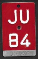 Velonummer Jura JU 84 - Number Plates
