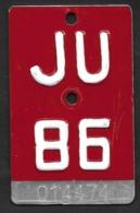 Velonummer Jura JU 86 - Number Plates