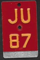 Velonummer Jura JU 87 (letzte Geprägte Velonummer JU) - Number Plates