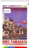 Télécarte Japon / 110-011 - DISNEY Série Art Peinture Hiro Yamagata / Mickey & Minnie In Fantasy (5668) Japan PHONEC - Disney