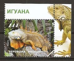 MACEDONIA 2017,FAUNA,IGUANA,ANIMALS,PETS,MNH,,MNH - Macedonia