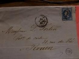 27.01.18- Variété  Sur N°22 , LAC De  L'Aigle A Voir!!! OR - 1862 Napoléon III.