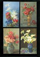 Beau Lot De 60 Cartes Postales De Fantaisie Fleurs Fleur  Mooi Lot 60 Postkaarten Van Fantasie Bloemen Bloem -  60 Scans - Cartes Postales