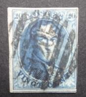 BELGIE  1858   Nr. 11   P 120   8 Baren   Gerand / Centrale Stempel   CW  10,00 - 1858-1862 Medallions (9/12)