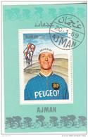 Bf. 82 Ajman 1969 Ciclismo Cycling Tommy Simpson Foglietto Perf. Nuovo Preoblit. - Ciclismo