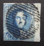 BELGIE  1858   Nr. 11   Bladboord Links Ingesneden     CW  10,00 - 1858-1862 Medallions (9/12)