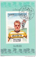 Bf. 83 Ajman 1969 Ciclismo Cycling Jan Janssen Foglietto Perf. Nuovo Preoblit. - Ciclismo