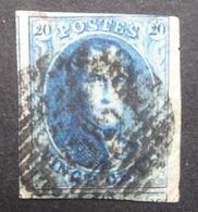 BELGIE  1858   Nr. 11   Bladboord / 2 X Gebuur      CW  10,00 - 1858-1862 Medallions (9/12)