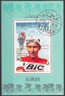 360 Ajman 1969 Ciclismo Cycling Jacques Anquetil  Sheet Perf. Tour - Ciclismo