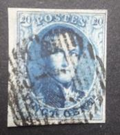 BELGIE  1858   Nr. 11   Met Hoekbladboord      CW  10,00 - 1858-1862 Medallions (9/12)
