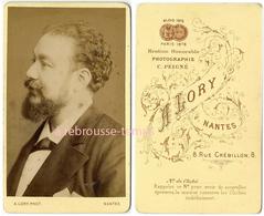 CDV  Vers 1880 Très Beau Portrait D'homme De Profil-photo A. Lory Rue Crébillon à Nantes - Anciennes (Av. 1900)