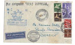 Zeppelin - Lettera Per Il Brasile - Con Bollo Di Arrivo - - Other
