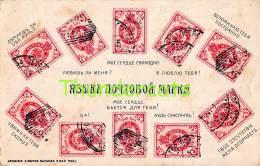 CPA  LANGAGE DES TIMBRES BRIEFMARKEN STAMPS POSTZEGELS SOUVENIR  RUSSIE RUSSIA - Timbres (représentations)