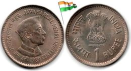Inde - 1 Rupee 1989 (Jawaharlal Nehru - UNC - Toned) - India