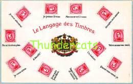 CPA  LANGAGE DES TIMBRES BRIEFMARKEN STAMPS POSTZEGELS SOUVENIR BELGIE BELGIQUE - Timbres (représentations)