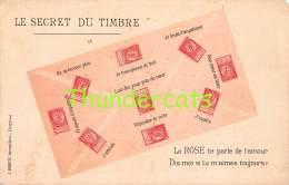 CPA  LANGAGE DES TIMBRES BRIEFMARKEN STAMPS POSTZEGELS SOUVENIR BELGIE BELGIQUE LEOPOLD II - Timbres (représentations)
