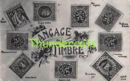 CPA  LANGAGE DES TIMBRES BRIEFMARKEN STAMPS POSTZEGELS SOUVENIR BELGIQUE BELGE - Timbres (représentations)