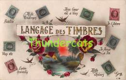 CPA  LANGAGE DES TIMBRES BRIEFMARKEN STAMPS POSTZEGELS SOUVENIR BELGIQUE BELGE - Stamps (pictures)