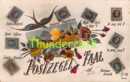 CPA  LANGAGE DES TIMBRES BRIEFMARKEN STAMPS POSTZEGELS SOUVENIR BELGIQUE BELGE - Briefmarken (Abbildungen)