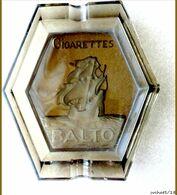 Cendrier Publicitaire Des Années 30 En Verre : Cigarettes BALTO - Glass