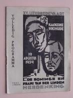 XVe IJZERBEDEVAART - Volledig Programma - KAASKERKE / DIKSMUIDE 19 Augustus 1934 ( Zie Foto's ) ! - Programmes