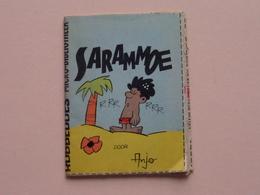 """MICRO Bibliotheek """" SARAMMOE """" Door Anjo : Dupuis = 6,5 X 8,5 Cm. ( Zie Foto's ) ! - Robbedoes Verzamelalbums"""