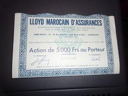 LLOYD MAROCAIN D'ASSURANCES (casablanca,maroc) - Aandelen