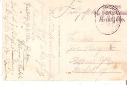 "C.P. De MONTJOIE(Eifel) En Feldpost V/Kettenis B/Eupen Griffe Vi""Briefstempel/Kgl.Bezirkskommando/Montjoie"" TB - WW I"