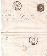 L.S.C; TP. N° 10A (marges Intactes) P/175 ENSIVAL Du 17/6/1860 V/Basse Bodeux Dos STAVELOT Très Frais Et Belles Marques - 1858-1862 Medallions (9/12)