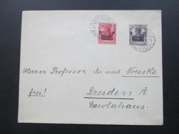 Deutsches Reich 1919 1. Mai Kriegsgeschädigtenhilfe Germania Mit Aufdruck. Satzbrief. Dresden Altstadt.Professor Noesske - Germania
