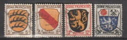 Allierte Besetzung / Französische Zone: Freimarken: Wappen Der Länder /  MiNr.: 3, 4, 6, 9 - Zone Française