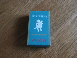MINIATURE DE PARFUM BOITE VIDE JE REVIENS DE  WORTH  EAU DE PARFUM 7ML - Miniatures Modernes (à Partir De 1961)