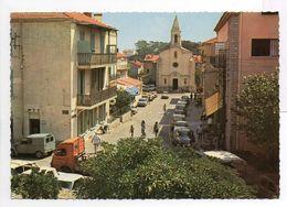 - CPSM GIENS (83) - La Rue Principale Et L'Eglise 1977 - Editions SOFER - - Hyeres
