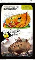 Humour Pluie Déluge Bible / Arche De Noé Bateau Brouette Animal Girafe éléphant Lion .... Il Pleut Bergère / IM 01/D-35 - Vieux Papiers