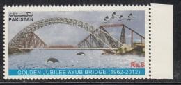 PAKISTAN, 2012,  Golden Jubilee, Ayub Bridge, Birds,, , MNH (**) - Pakistan