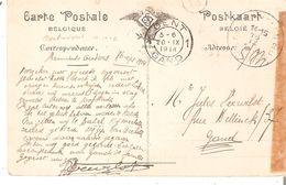 CP. Iers MOIS En SM. Cad MECHELEN 2 Du 16/9/1914 Arr. GENT 1 20/10/14 - WW I