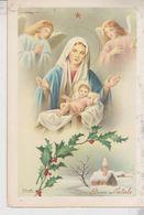 Buon Natale Merry Christmas Joyeux Noël Natività Sacra Famiglia Paesaggio Montano G. Bonelli 1957 - Christmas