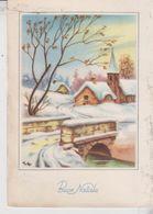 Buon Natale Merry Christmas Joyeux Noël  Paesaggio Montano 1954 - Christmas
