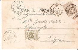 CP. TP. N° 107 Obl. PAU 1902 V/POPERINGHE. Ambt. TOURNAI-GAND 2 + TTX. 6 POPERINGHE - Portomarken