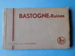Bastogne 1945  Ruines 10 Cartes Postales En Carnet - Guerre 1939-45