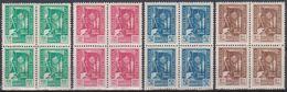 Yugoslavia, Post Congress 1946, Belgrade, Complete Set, MNH Blocks Of Four - 1945-1992 Sozialistische Föderative Republik Jugoslawien