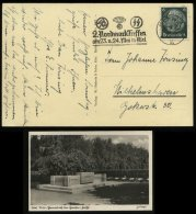 3. Reich - DR Postkarte Kiel Niobe Ehrenmal: Gebraucht Mit Werbestempel SA , SS ,NSKK Nordmarktreffen Kiel - Wilhelmsh - Deutschland