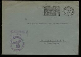 WW II DR Dienstpost Brief: Gebraucht Mit Infanterie Werbestempel Oldenburg - Berlin 1938 , Bedarfserhaltung. - Deutschland