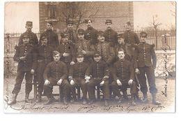 CPA 08 GIVET CARTE PHOTO 148 EME DE LIGNE 12 EME COMPAGNIE 1908 RARE BELLE CARTE !! - Casernes