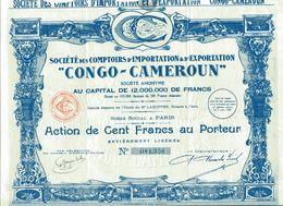 """CONGO-CAMERON"" - Comptoirs D'Importation & D'Exportation - Agriculture"