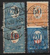 Oberschlesien, Mi-Nr. 10/2, Aufdrucke 1920 Komplett, Mi-Nr. 11 Mit 2 Farben, O - Deutschland