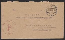 """""""Lehr.Abt. Für Heeresmotorisierung"""", Wünsdorf, 11.8.43 - Briefe U. Dokumente"""