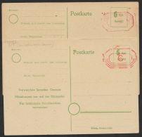 """""""Lokal/Bremen"""", Mi-Nr. PA18 I, überdruckte Karte, Dazu 2. Karte Mit Anderem Aufdrucktyp, * - Ohne Zuordnung"""