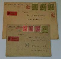 """Mi-Nr. 937 U.a., 2 Bedarfs-Wertbriefe """"München"""", 1947, Beide Hohe Frankaturen, Selten - Gemeinschaftsausgaben"""
