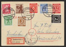 "Mi-Nr. P953, Portoger. R-Karte ""Luckenwalde"", 13.5.46, Gute Zusatzfr. U.a. SBZ 4/6A, O - Gemeinschaftsausgaben"
